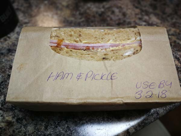 POORLY LABELLED SANDWICH